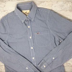 Hollister Button Down Buffalo Check Plaid Shirt